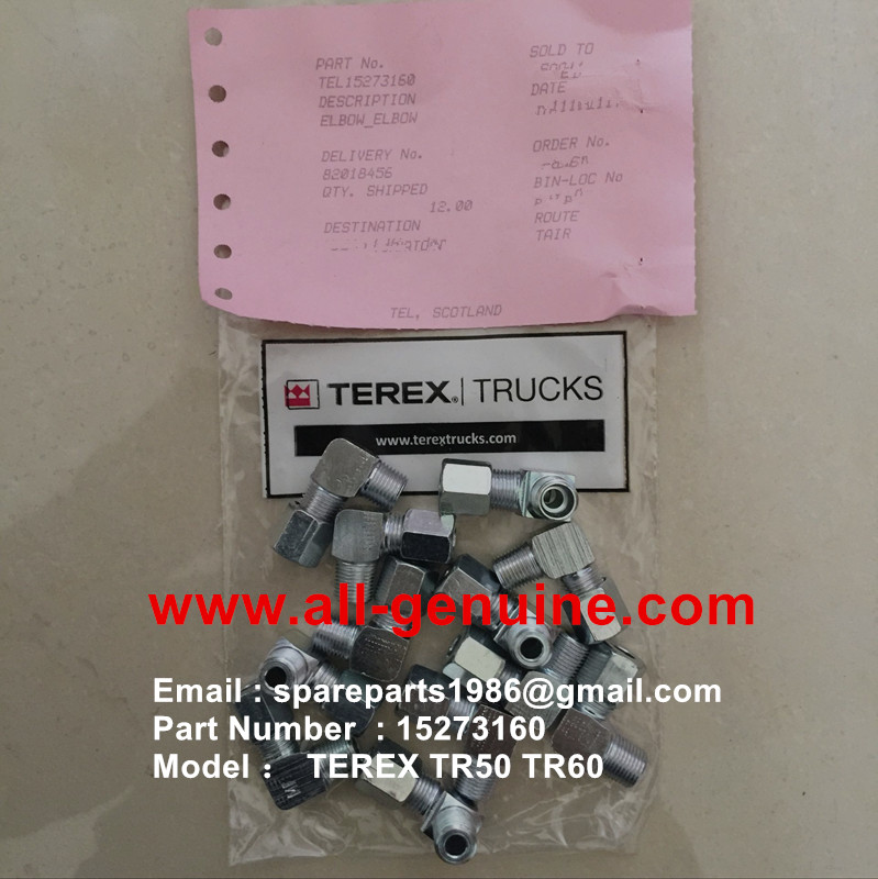 TEREX NHL TR50 TR60 RIGID DUMP TRUCK ALLISON TRANSMISSION 15273160 ELBOW