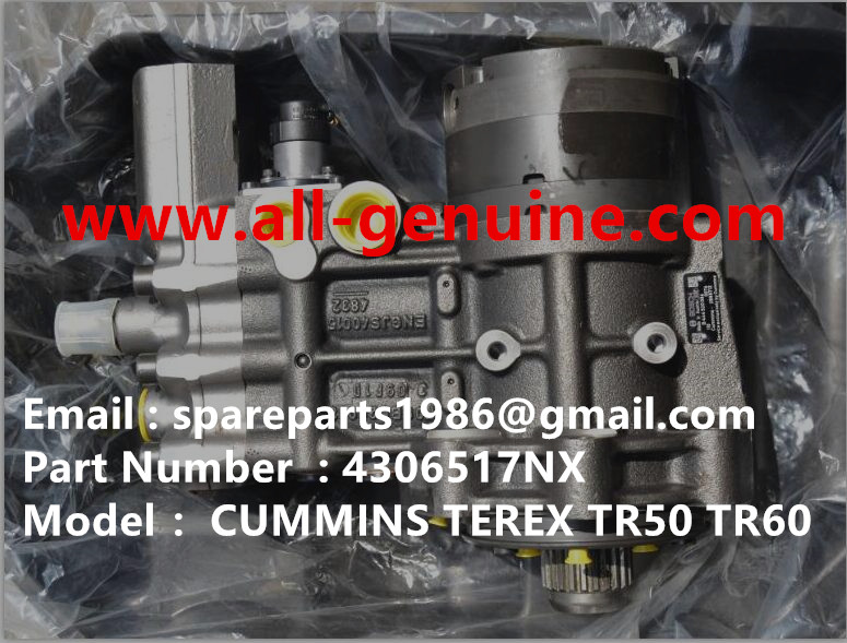 TEREX NHL TR50 TR60 RIGID DUMP TRUCK CUMMINS ENGINE 4306517NX FUEL INJECTION PUMP