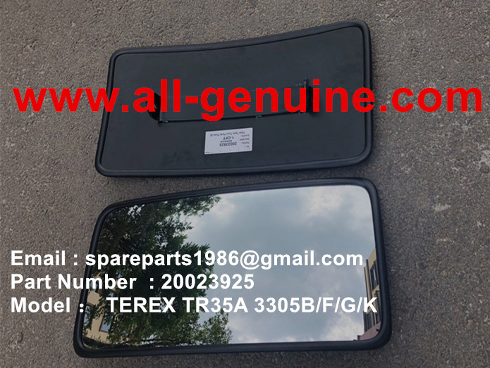 TEREX NHL MINING OFF HIGHWAY RIGID DUMP TRUCK CUMMINS ENGINE TR35A 3305F 3305B 3305G 3305K OFF HIGHWAY TRUCK 20023925 MIRROR ASSY