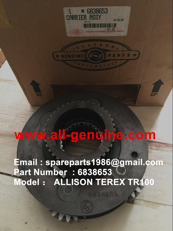 TEREX OFF HIGHWAY MINING RIGID DUMP TRUCK HAULER NHL UNIT RIG TR60 TR70 TR100 ALLISON TRANSMISSION 6838653 CARRIER ASSY