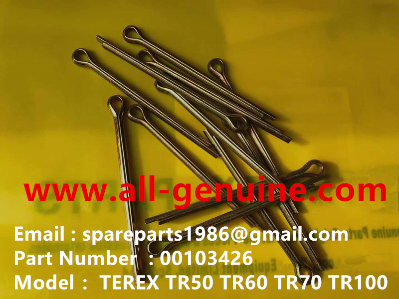 TEREX NHL DUMPER TR50 00103426 COTTER PIN