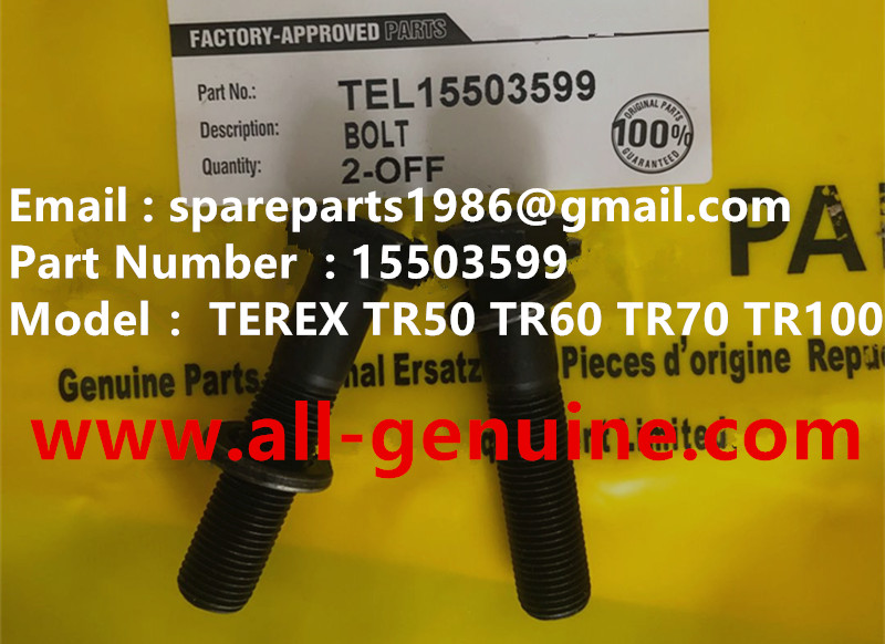 TEREX RIGID DUMP TRUCK TR50 TR60 SRT45 SCREW 15503599