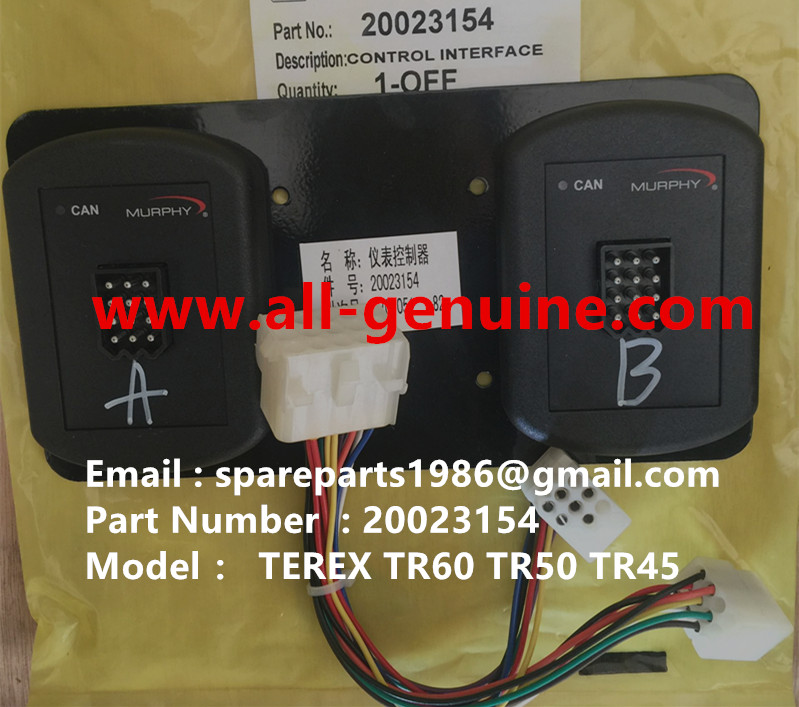 TEREX RIGID DUMP TRUCK TR50 TR60 SRT45 20023154 CONTROL INTERFACE