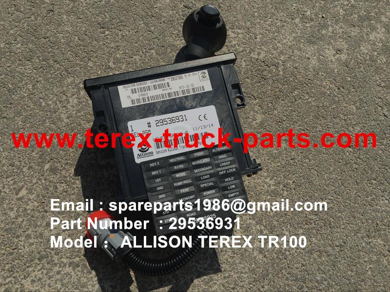 TEREX SANY TR100 SRT95 RIGID DUMP TRUCK ALLISON TRANSMISSION GEAR