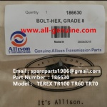 TEREX NHL TR100 ALLISON RIGID DUMP TRUCK 186630  BOLT